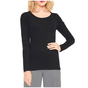 Vince Camuto Black Long Sleeve Top